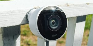 A Close up of a Camera which placed for the observation of pets.